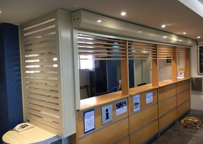 shopfront security mesh shutters